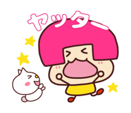 Happy family [a footloose young girl] sticker #13672232