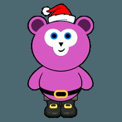 Cute Santa Bear stickers