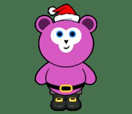 Cute Santa Bear stickers sticker #13675078