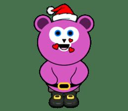 Cute Santa Bear stickers sticker #13675080