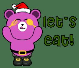 Cute Santa Bear stickers sticker #13675082