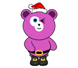 Cute Santa Bear stickers sticker #13675083
