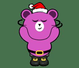 Cute Santa Bear stickers sticker #13675085