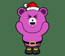 Cute Santa Bear stickers sticker #13675086