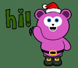 Cute Santa Bear stickers sticker #13675087