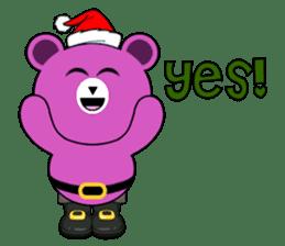 Cute Santa Bear stickers sticker #13675088