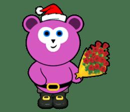 Cute Santa Bear stickers sticker #13675090
