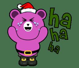 Cute Santa Bear stickers sticker #13675091