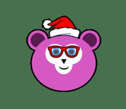 Cute Santa Bear stickers sticker #13675092