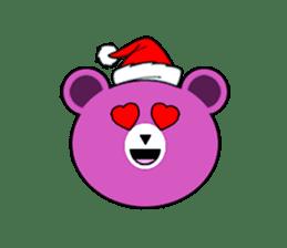 Cute Santa Bear stickers sticker #13675094