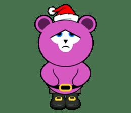 Cute Santa Bear stickers sticker #13675095