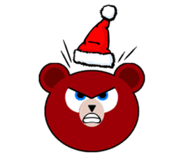 Cute Santa Bear stickers sticker #13675097