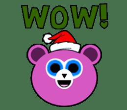 Cute Santa Bear stickers sticker #13675098