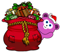 Cute Santa Bear stickers sticker #13675099