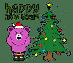 Cute Santa Bear stickers sticker #13675100