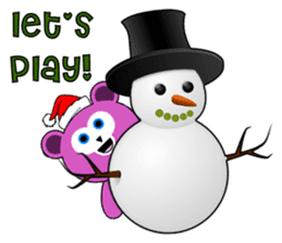 Cute Santa Bear stickers sticker #13675101