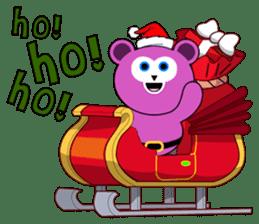 Cute Santa Bear stickers sticker #13675102