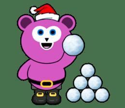 Cute Santa Bear stickers sticker #13675108