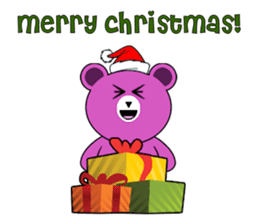 Cute Santa Bear stickers sticker #13675109