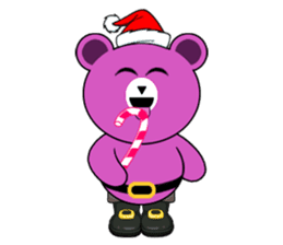 Cute Santa Bear stickers sticker #13675110