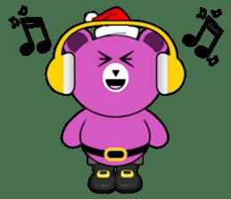 Cute Santa Bear stickers sticker #13675112