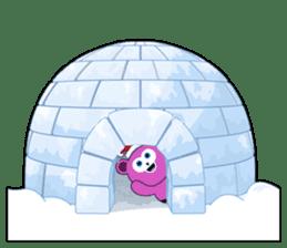 Cute Santa Bear stickers sticker #13675113