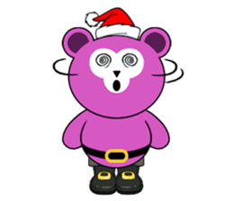 Cute Santa Bear stickers sticker #13675114