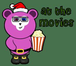 Cute Santa Bear stickers sticker #13675115