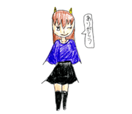 Demon daughter sticker #13675783