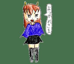 Demon daughter sticker #13675785