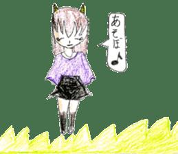 Demon daughter sticker #13675788