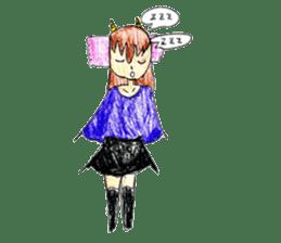Demon daughter sticker #13675793