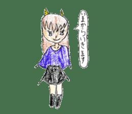 Demon daughter sticker #13675805