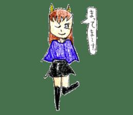 Demon daughter sticker #13675806