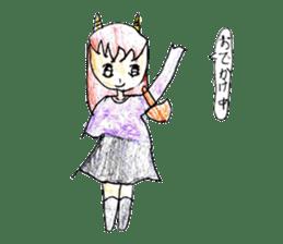 Demon daughter sticker #13675810