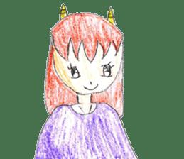 Demon daughter sticker #13675814