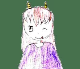 Demon daughter sticker #13675815
