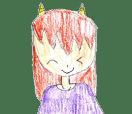 Demon daughter sticker #13675816