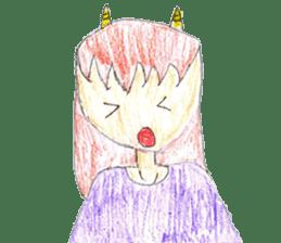 Demon daughter sticker #13675817