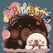 สติ๊กเกอร์ไลน์ BiBi&BoneBone Bears