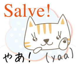 Cute Cat (Italian & Japanese) sticker #13680379