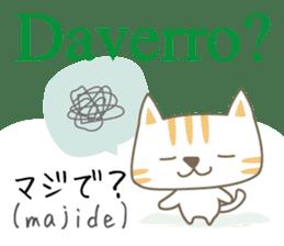 Cute Cat (Italian & Japanese)2 sticker #13681719