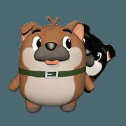 สติ๊กเกอร์ไลน์ Happy twin Dogs.