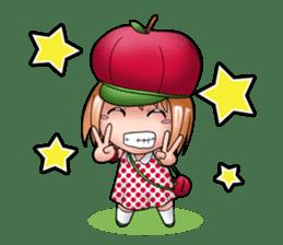 Kippi the Apple Maniac Girl sticker #13700703