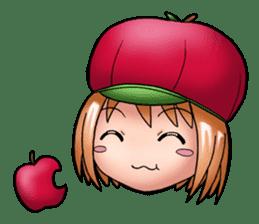 Kippi the Apple Maniac Girl sticker #13700704
