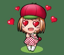 Kippi the Apple Maniac Girl sticker #13700705