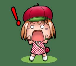 Kippi the Apple Maniac Girl sticker #13700710