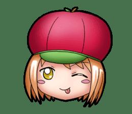 Kippi the Apple Maniac Girl sticker #13700711