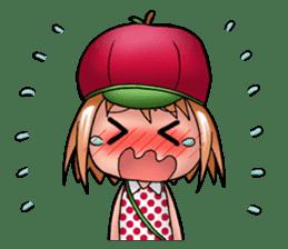 Kippi the Apple Maniac Girl sticker #13700713