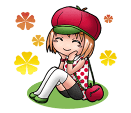 Kippi the Apple Maniac Girl sticker #13700718